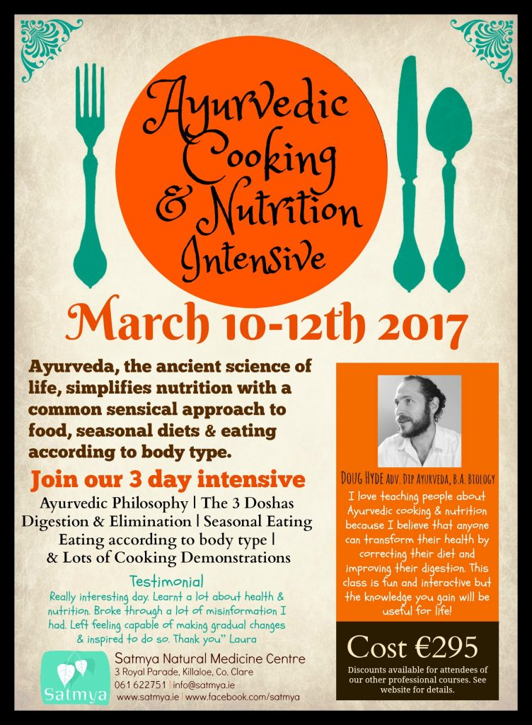 Ayurvedic cooking &nutrition intensive