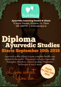 Diploma of Ayurvedic Studies starting 10th September